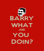 BARRY WHAT ARE YOU  DOIN? - Personalised Poster A4 size
