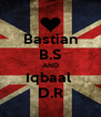 Bastian B.S AND Iqbaal  D.R - Personalised Poster A4 size