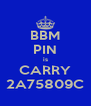 BBM PIN is CARRY 2A75809C - Personalised Poster A4 size