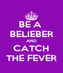 BE A  BELIEBER AND CATCH THE FEVER - Personalised Poster A4 size