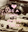 BE A GIRL WITH PETITS YEUX - Personalised Poster A4 size