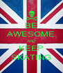 BE AWESOME AND KEEP SKATING - Personalised Poster A4 size