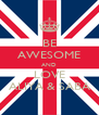 BE AWESOME AND LOVE ALIYA & SABA - Personalised Poster A4 size