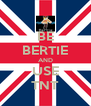 BE BERTIE AND USE TNT - Personalised Poster A4 size