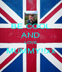 BE COOL AND LOVE MUMMY!!xx  - Personalised Poster A4 size