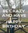BE CRAZY AND HAVE A VERY  HAPPY BIRTHDAY - Personalised Poster A4 size