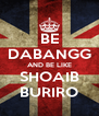 BE DABANGG AND BE LIKE SHOAIB BURIRO - Personalised Poster A4 size