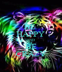 BE  HAPPY AND BE CRAZY - Personalised Poster A4 size