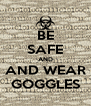 BE SAFE AND AND WEAR GOGGLES - Personalised Poster A4 size
