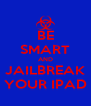 BE SMART AND JAILBREAK YOUR IPAD - Personalised Poster A4 size