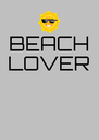 BEACH LOVER    - Personalised Poster A4 size