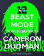 BEAST MODE SUPER SONICS CAMERON DUDMAN - Personalised Poster A4 size