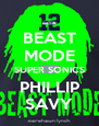 BEAST MODE SUPER SONICS PHILLIP SAVY - Personalised Poster A4 size