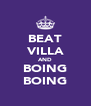 BEAT VILLA AND BOING BOING - Personalised Poster A4 size