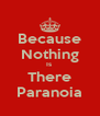 Because Nothing Is  There Paranoia - Personalised Poster A4 size