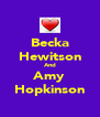 Becka Hewitson And Amy Hopkinson - Personalised Poster A4 size