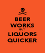 BEER WORKS BUT LIQUORS QUICKER - Personalised Poster A4 size