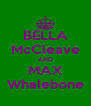BELLA McCleave AND MAX Whalebone - Personalised Poster A4 size