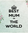 BEST MUM IN THE WORLD - Personalised Poster A4 size