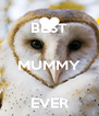 BEST  MUMMY  EVER - Personalised Poster A4 size
