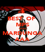 BEST  OF  MPS GOLI MARDUNGA AAA - Personalised Poster A4 size