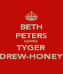 BETH PETERS LOVES TYGER DREW-HONEY - Personalised Poster A4 size