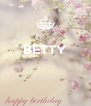 BETTY    - Personalised Poster A4 size