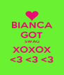 BIANCA GOT SWAG XOXOX <3 <3 <3 - Personalised Poster A4 size
