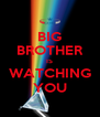 BIG BROTHER IS WATCHING YOU - Personalised Poster A4 size