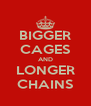 BIGGER CAGES AND LONGER CHAINS - Personalised Poster A4 size