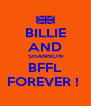 BILLIE AND SHANNON BFFL FOREVER !  - Personalised Poster A4 size