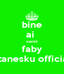 bine ai  venit faby stanesku official - Personalised Poster A4 size