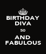 BIRTHDAY DIVA 50 AND FABULOUS - Personalised Poster A4 size