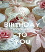 BIRTHDAY WISHES TO YOU - Personalised Poster A4 size
