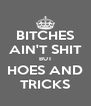 BITCHES AIN'T SHIT BUT HOES AND TRICKS - Personalised Poster A4 size