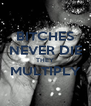BITCHES NEVER DIE THEY MULTIPLY  - Personalised Poster A4 size