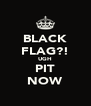 BLACK FLAG?! UGH PIT NOW - Personalised Poster A4 size