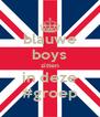 blauwe boys zitten in deze #groep - Personalised Poster A4 size