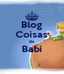 Blog Coisas da Babi  - Personalised Poster A4 size