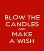 BLOW THE CANDLES AND MAKE A WISH - Personalised Poster A4 size