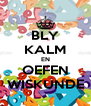 BLY KALM EN OEFEN WISKUNDE - Personalised Poster A4 size