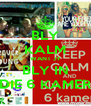 BLY KALM WANT JY BLY IN DIE 6 KAMER - Personalised Poster A4 size