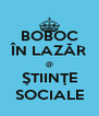 BOBOC ÎN LAZĂR @ ŞTIINŢE SOCIALE - Personalised Poster A4 size