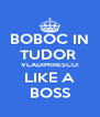 BOBOC IN TUDOR  VLADIMIRESCU! LIKE A BOSS - Personalised Poster A4 size