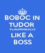 BOBOC IN TUDOR  VLADIMIRESCU! LIKE A BOSS - Personalised Poster A4 size