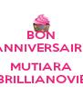 BON ANNIVERSAIRE  MUTIARA BRILLIANOVIE - Personalised Poster A4 size