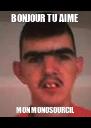 BONJOUR TU AIME  MON MONOSOURCIL  - Personalised Poster A4 size