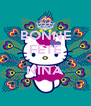 BONNE FETE  NINA  - Personalised Poster A4 size
