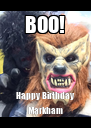 BOO! Happy Birthday Markham - Personalised Poster A4 size