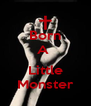 Born A   Little Monster - Personalised Poster A4 size